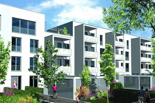 Im Wohnensemble Röthelheimgärten in Erlangen enstanden Eigentumswohnungen.